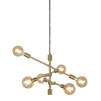 it's about RoMi Hanglamp ijzer Nashville 6-arm goud