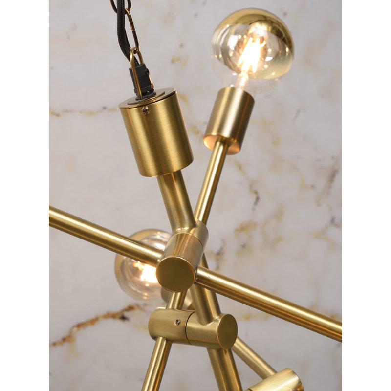it's about RoMi-collectie Hanglamp ijzer Nashville 6-arm goud
