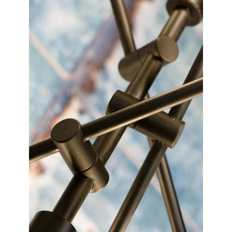 it's about RoMi-collectie Hanging lamp iron Nashville 6-arm, black