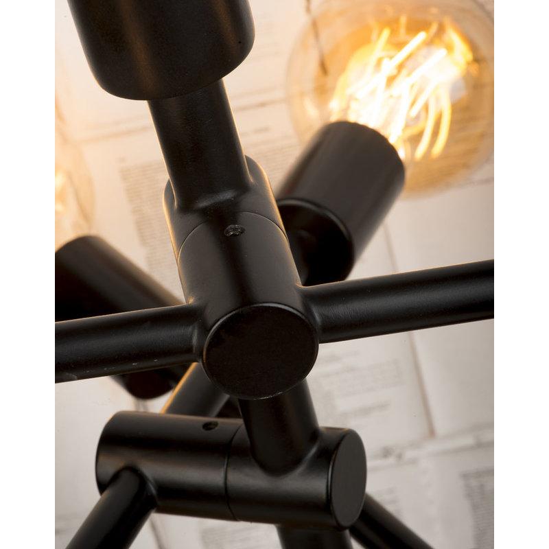 it's about RoMi-collectie Vloerlamp ijzer Nashville 6-arm  verstelbaar zwart