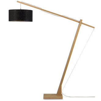 Good&Mojo Floor lamp Montblanc bamboo 4723 eco linen, black