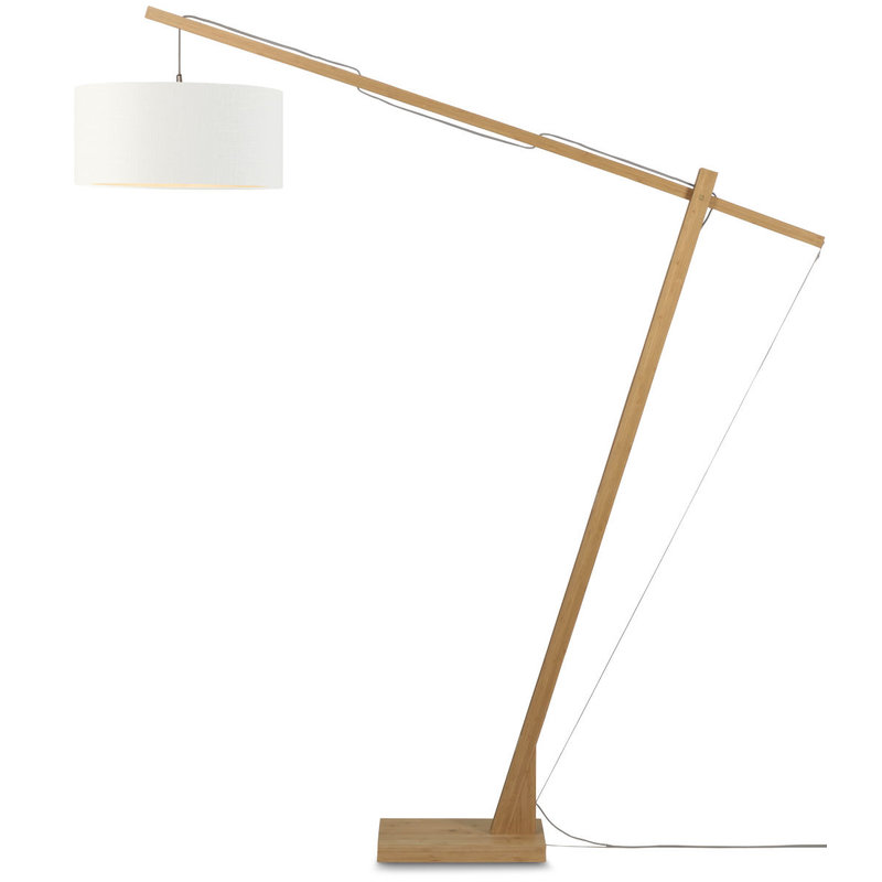 Good&Mojo-collectie Floor lamp Montblanc bamboo 4723 eco linen, wit