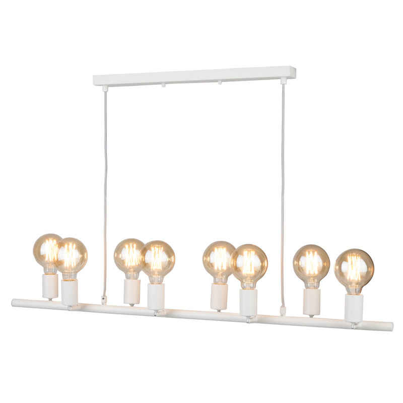 it's about RoMi-collectie Hanging lamp iron Miami 8-arm, white