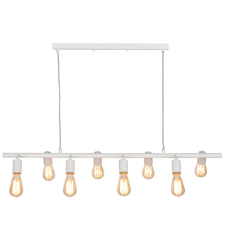 it's about RoMi Hanging lamp iron Miami 8-arm, white