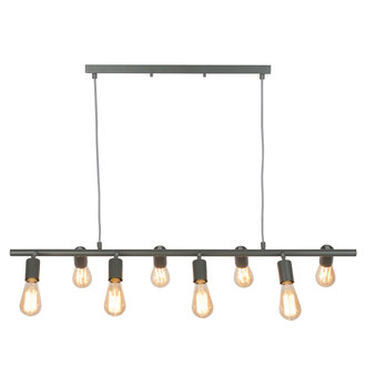 it's about RoMi Hanging lamp iron Miami 8-arm, grey-green
