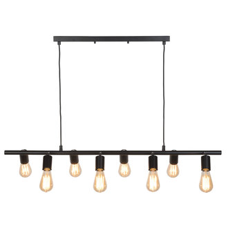 it's about RoMi Hanging lamp iron Miami 8-arm, black