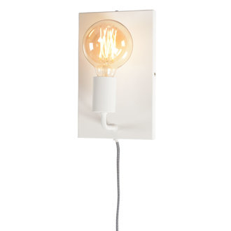 it's about RoMi Wall lamp iron Madrid white, L