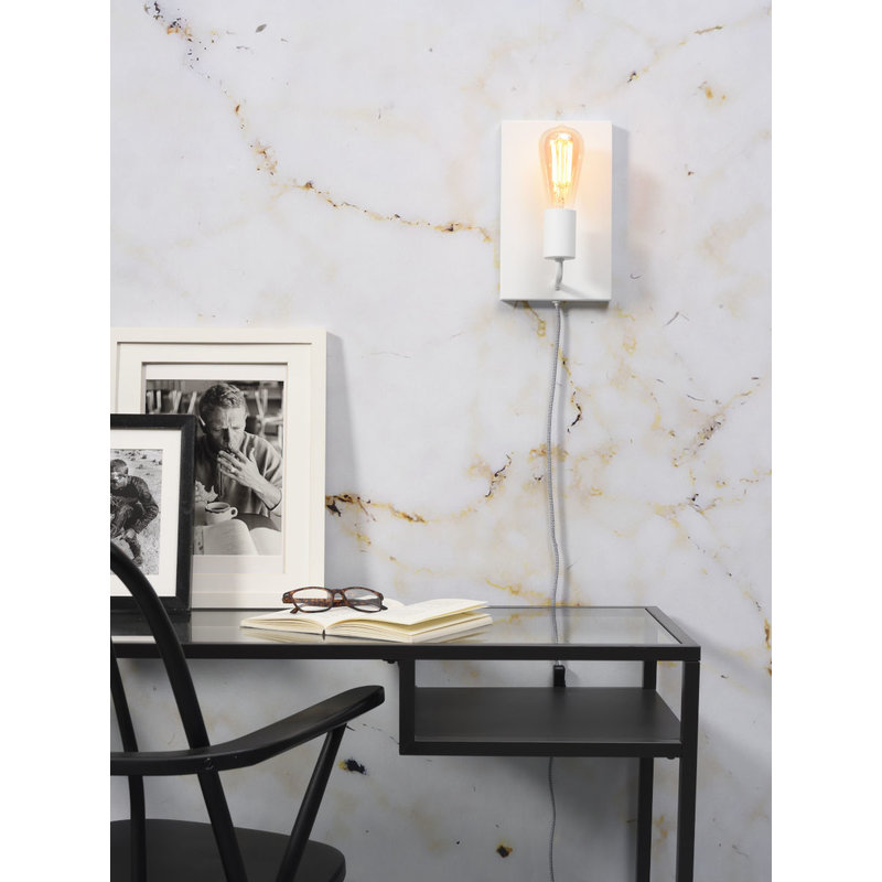 it's about RoMi-collectie Wall lamp iron Madrid white, L