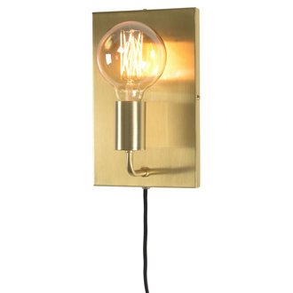it's about RoMi Wall lamp iron Madrid gold, L