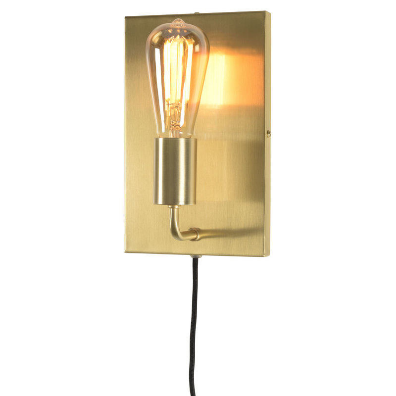 it's about RoMi-collectie Wall lamp iron Madrid gold, L