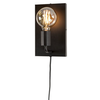 it's about RoMi Wall lamp iron Madrid  black, L