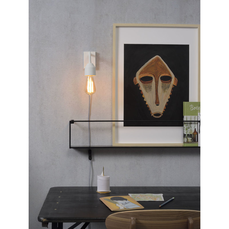 it's about RoMi-collectie Wandlamp ijzer Madrid wit S