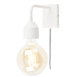 it's about RoMi Wall lamp iron Madrid white, S