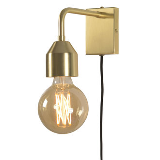 it's about RoMi Wall lamp iron Madrid gold, S