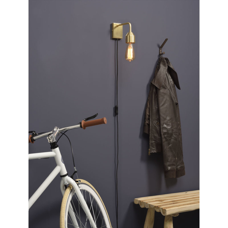 it's about RoMi-collectie Wall lamp iron Madrid gold, S