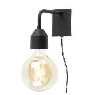 it's about RoMi Wall lamp iron Madrid black, S