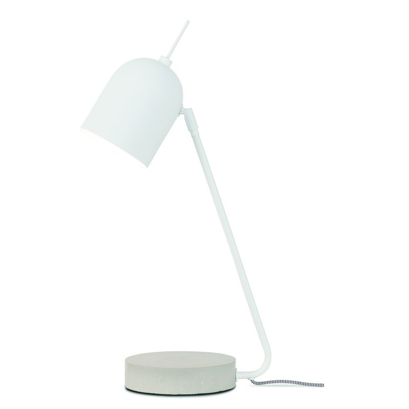 it's about RoMi-collectie Table lamp iron/concrete base Madrid, white