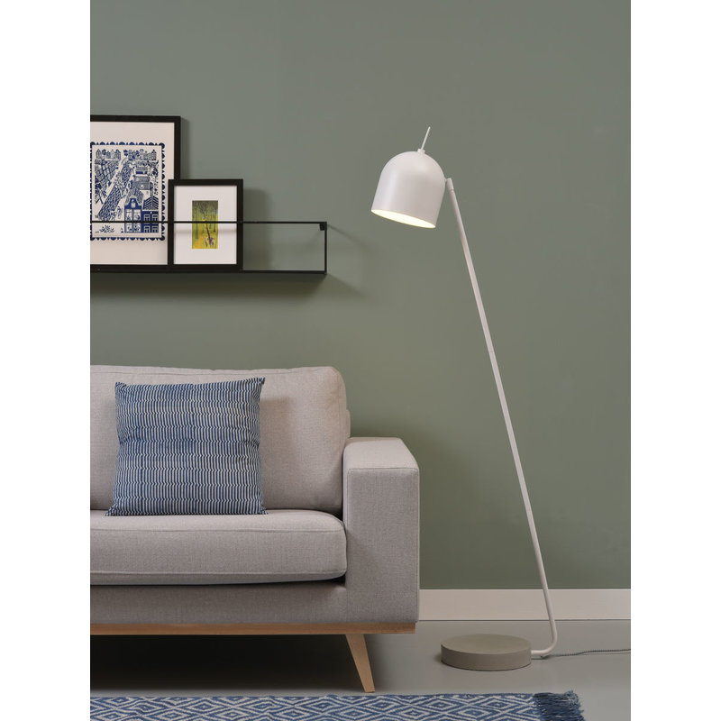 it's about RoMi-collectie Vloerlamp ijzer/cement voet Madrid wit
