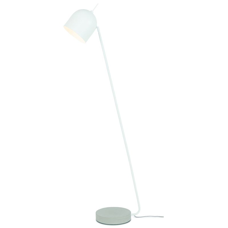 it's about RoMi-collectie Floor lamp iron/concrete base Madrid, white
