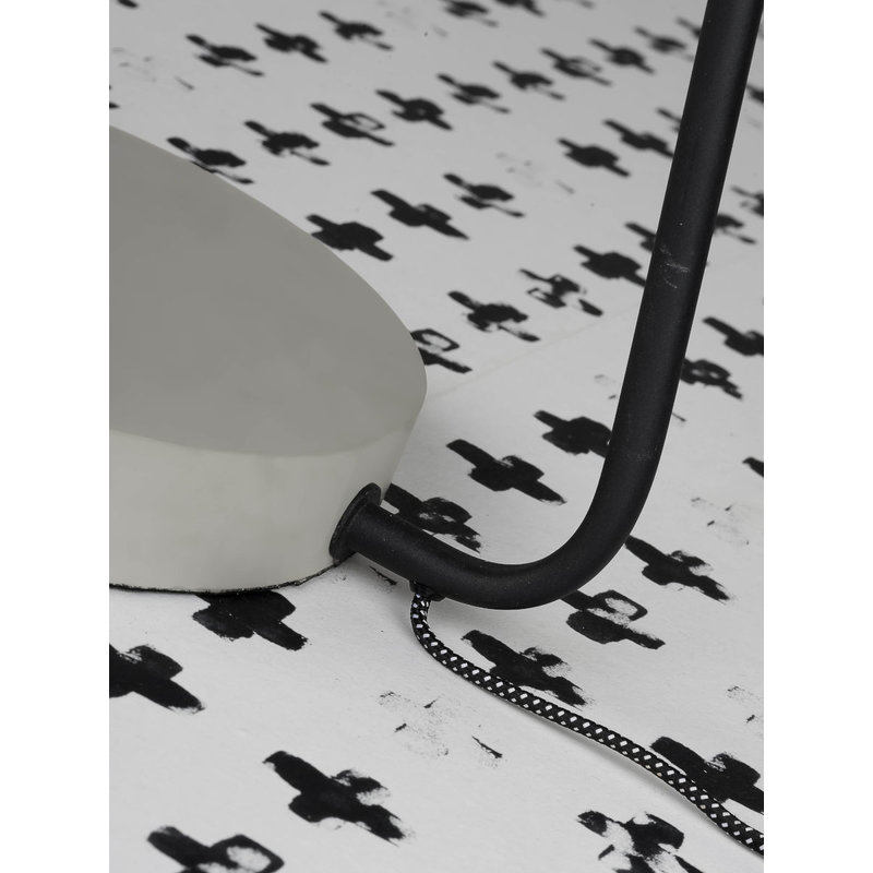 it's about RoMi-collectie Vloerlamp ijzer/cement voet Madrid zwart