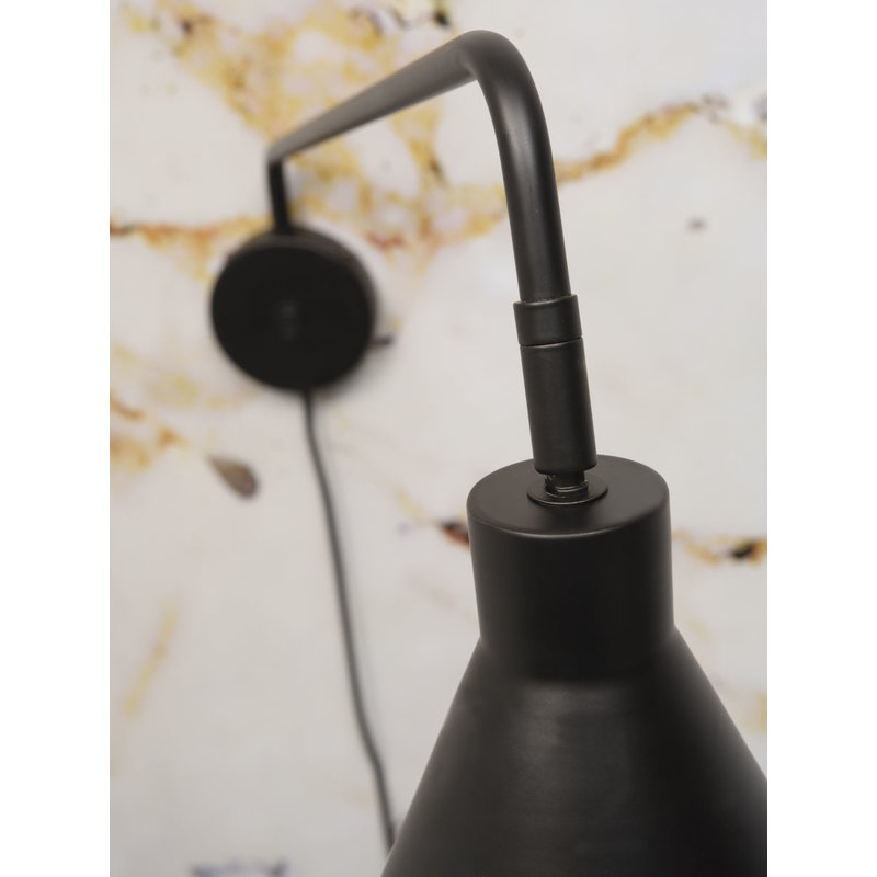 it's about RoMi-collectie Wandlamp ijzer Lyon zwart