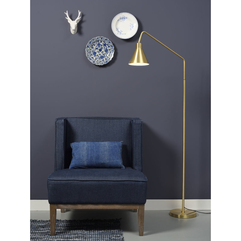 it's about RoMi-collectie Floor lamp iron Lyon, gold