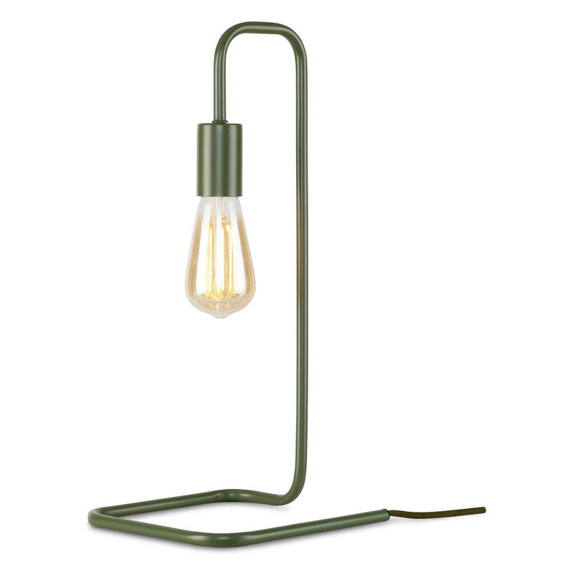 it's about RoMi-collectie Table lamp iron/tube London, olive green