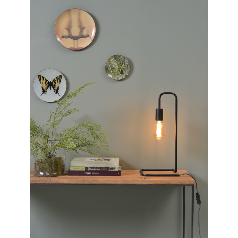it's about RoMi-collectie Table lamp iron/tube London, black