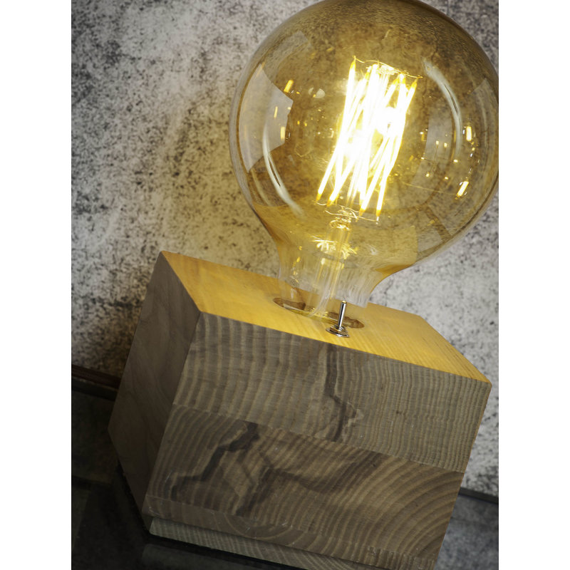 it's about RoMi-collectie Table lamp ash wood/square Kobe natural