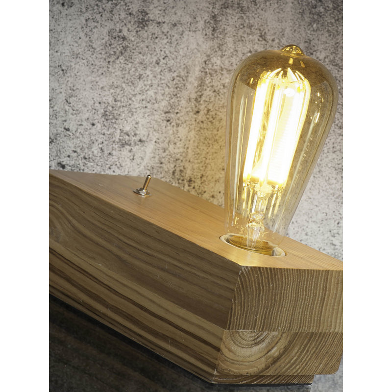 it's about RoMi-collectie Table lamp ash wood/block Kobe natural