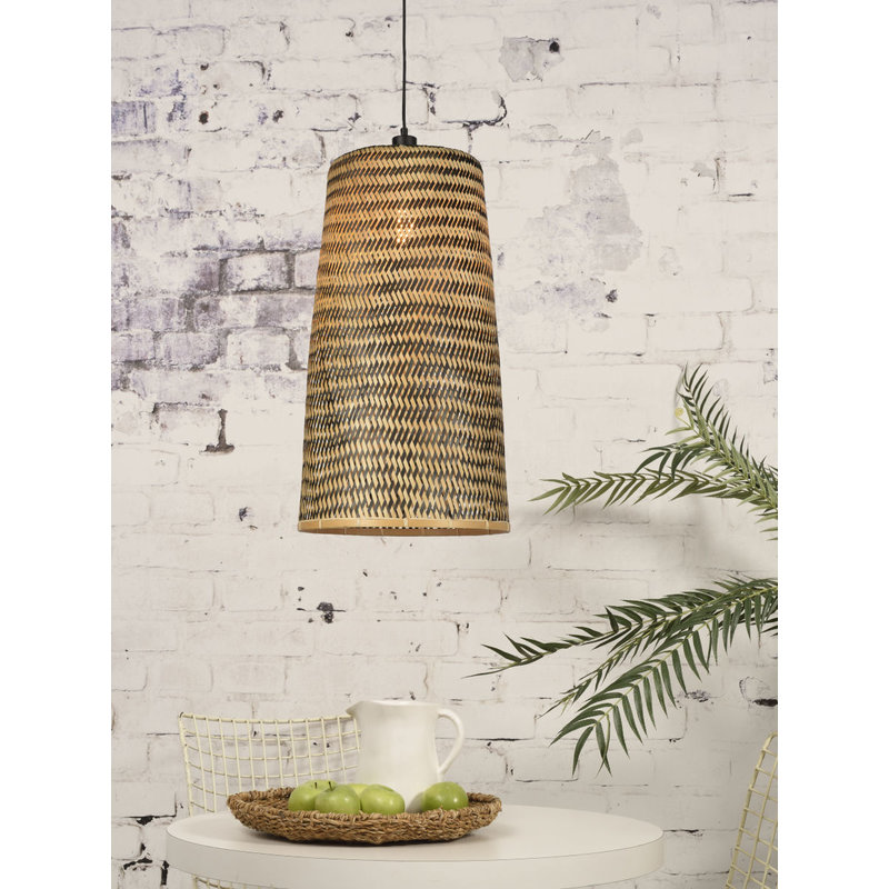 Good&Mojo-collectie Hanging lamp Kalimantan bamboo/tapered, L