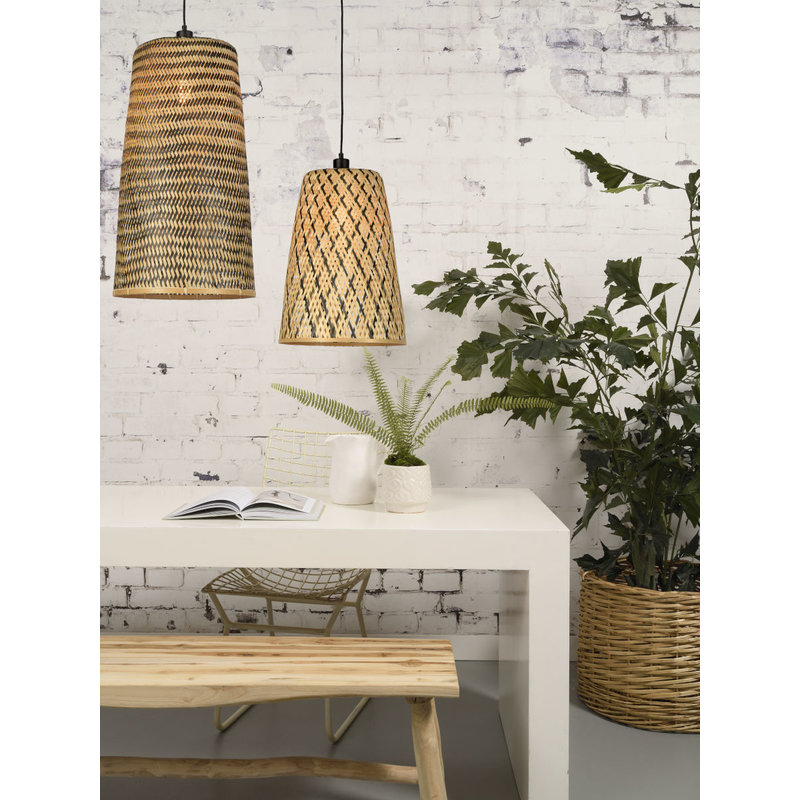 Good&Mojo-collectie Hanglamp Kalimantan bamboe/taps  S