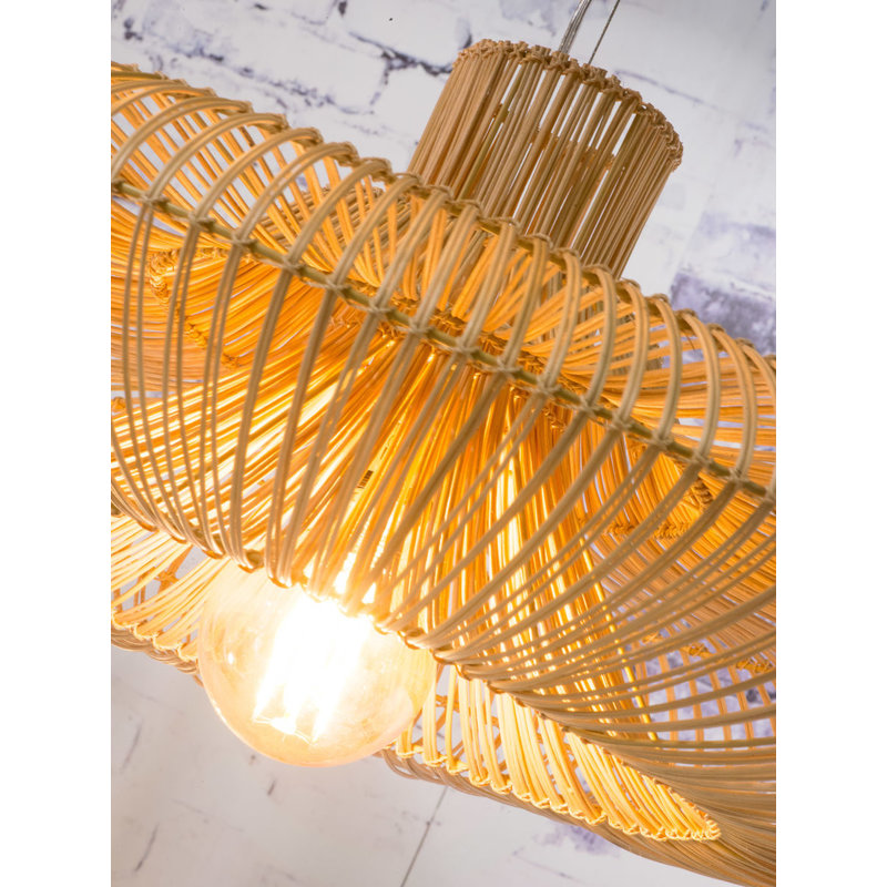 Good&Mojo-collectie Hanging lamp Kalahari wicker double shade natural, L