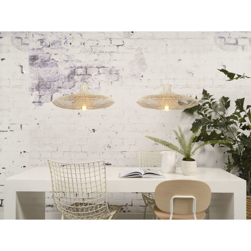 Good&Mojo-collectie Hanglamp Kalahari rotan enkel kap naturel  L