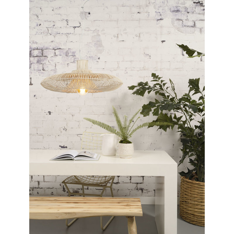 Good&Mojo-collectie Hanging lamp Kalahari wicker single shade natural, L