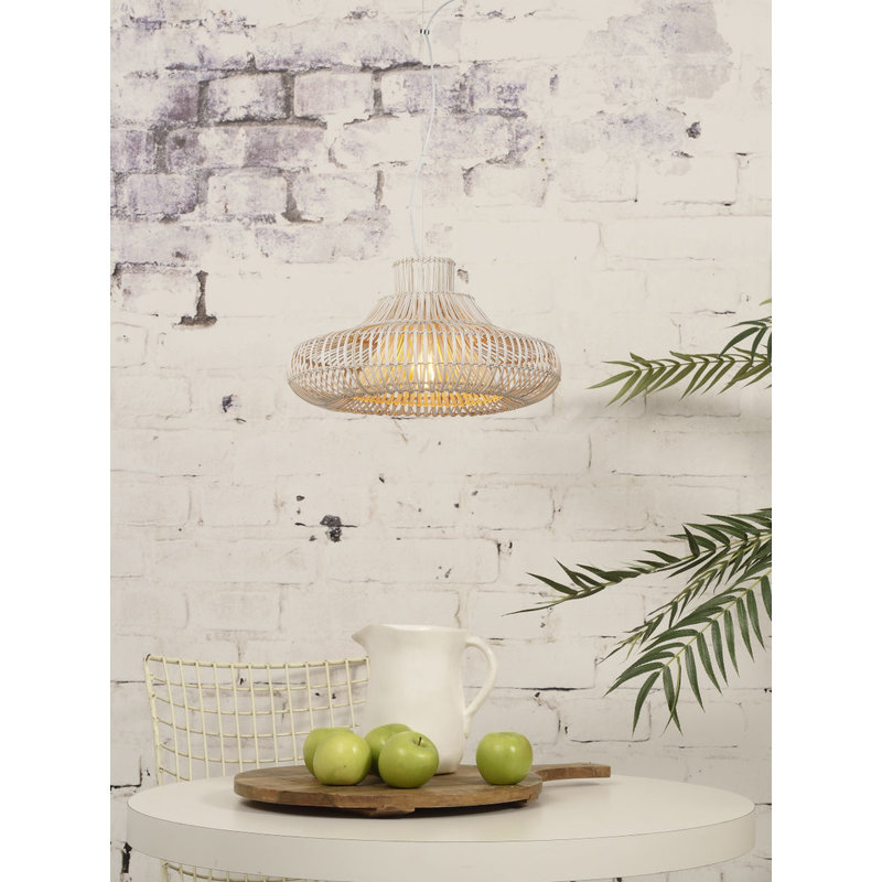 Good&Mojo-collectie Hanging lamp Kalahari wicker single shade natural, S
