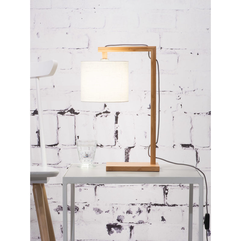Good&Mojo-collectie Table lamp Himalaya bamboo 1815, linen white