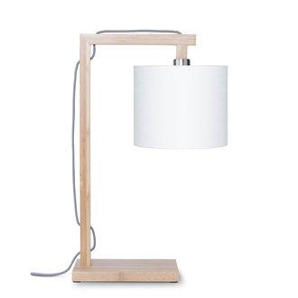 Good&Mojo Table lamp Himalaya bamboo 1815, linen white