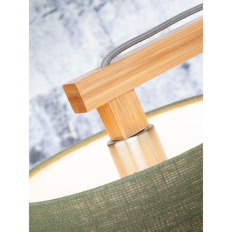 Good&Mojo-collectie Floor lamp Himalaya bamboo 4723, linen green forest