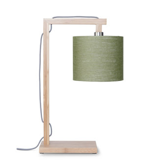 Good&Mojo Floor lamp Himalaya bamboo 4723, linen green forest