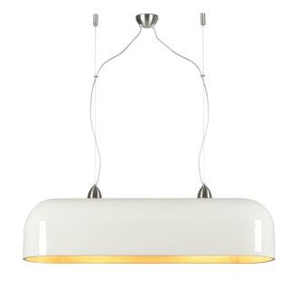 Good&Mojo Hanglamp Halong bamboe ovaal - 2 lichtpunten naturel/wit