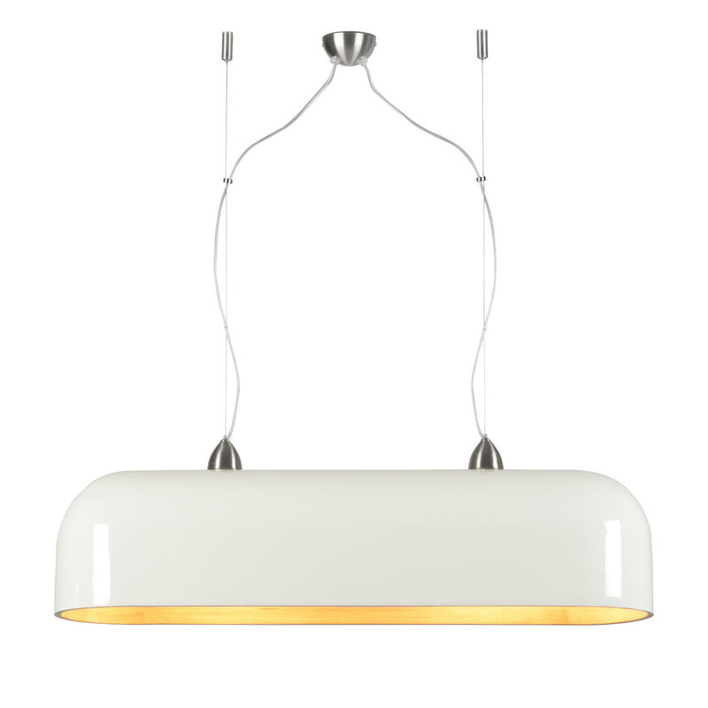 Good&Mojo-collectie Hanglamp Halong bamboe ovaal - 2 lichtpunten naturel/wit