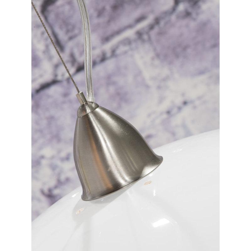Good&Mojo-collectie Hanglamp bamboe Halong 2-kaps hangsysteem, wit