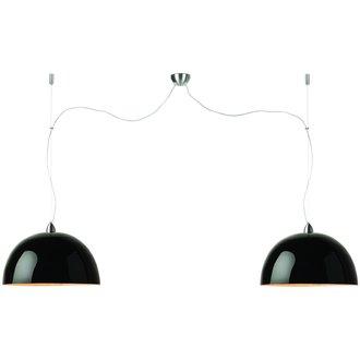 Good&Mojo Hanglamp bamboe Halong 2-kaps hangsysteem, zwart