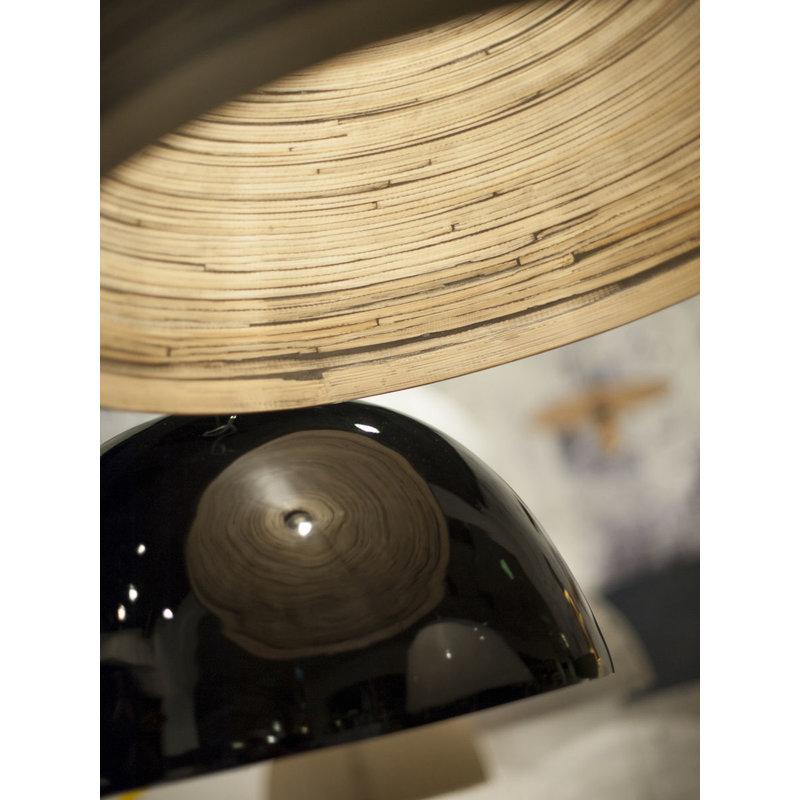 Good&Mojo-collectie Hanglamp bamboe Halong 2-kaps hangsysteem, zwart