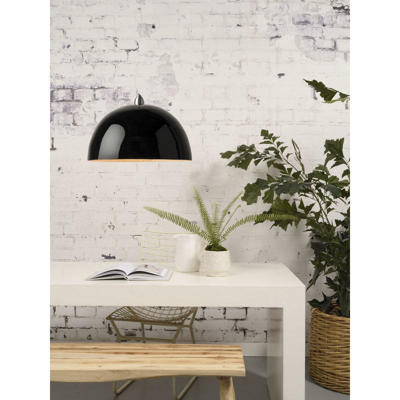 Good&Mojo-collectie Hanglamp bamboe Halong 1-kaps hangsysteem, zwart
