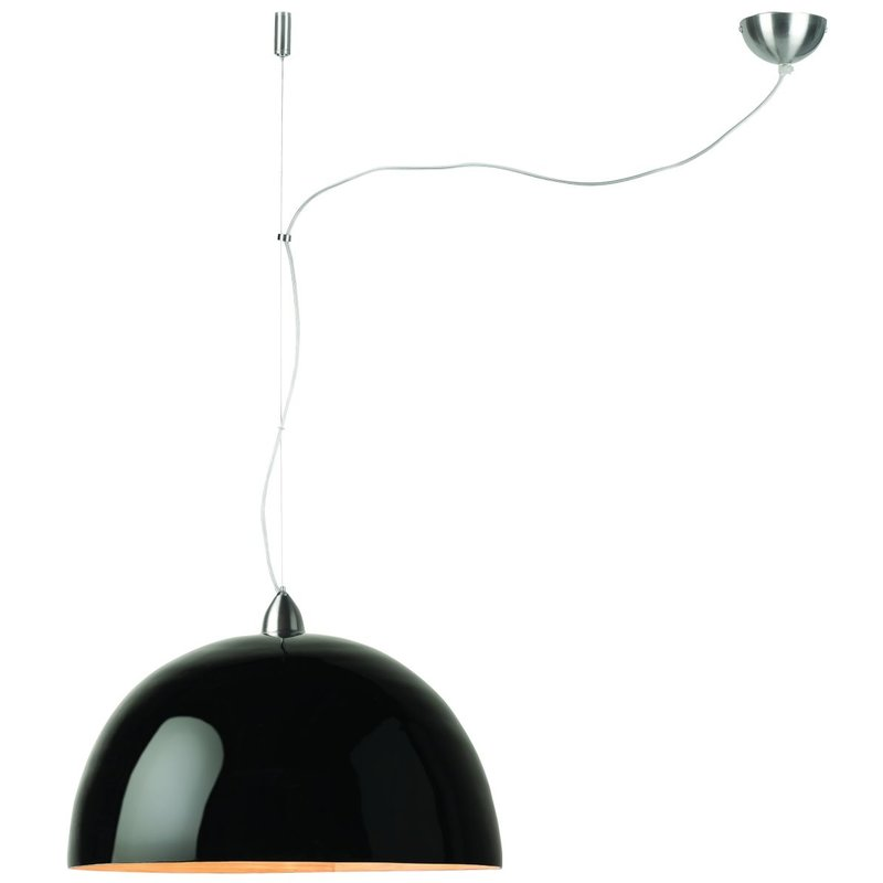 Good&Mojo-collectie Hanging lamp bamboo Halong single, black