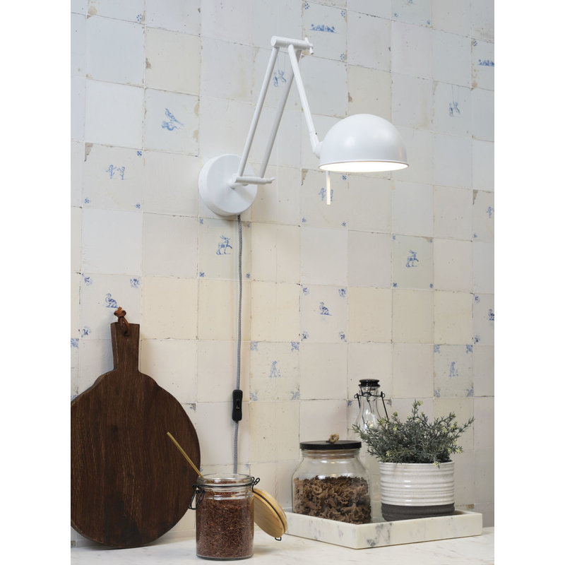 it's about RoMi-collectie Wall lamp iron Glasgow, white