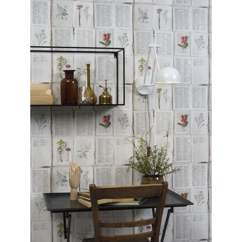it's about RoMi-collectie Wandlamp ijzer Glasgow mat wit