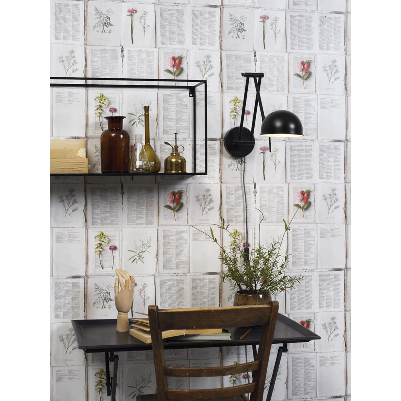 it's about RoMi-collectie Wandlamp ijzer Glasgow  mat zwart